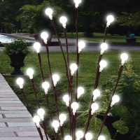 2 X 60cm Garden LED Twig Lights Solar Tree Lights Decor ...