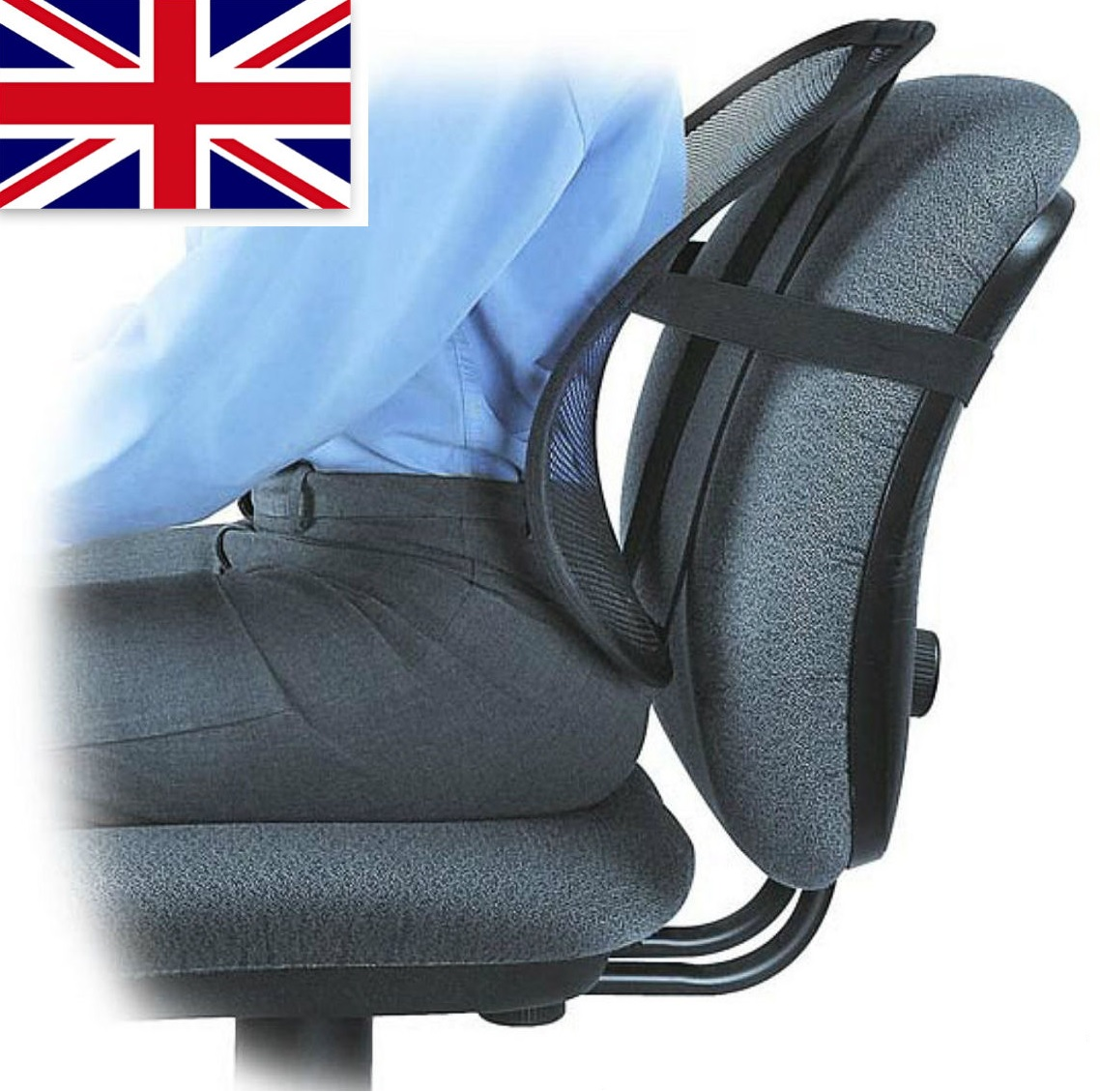 back pain office chair cushion ghost ikea air lumbar support lower relief correct