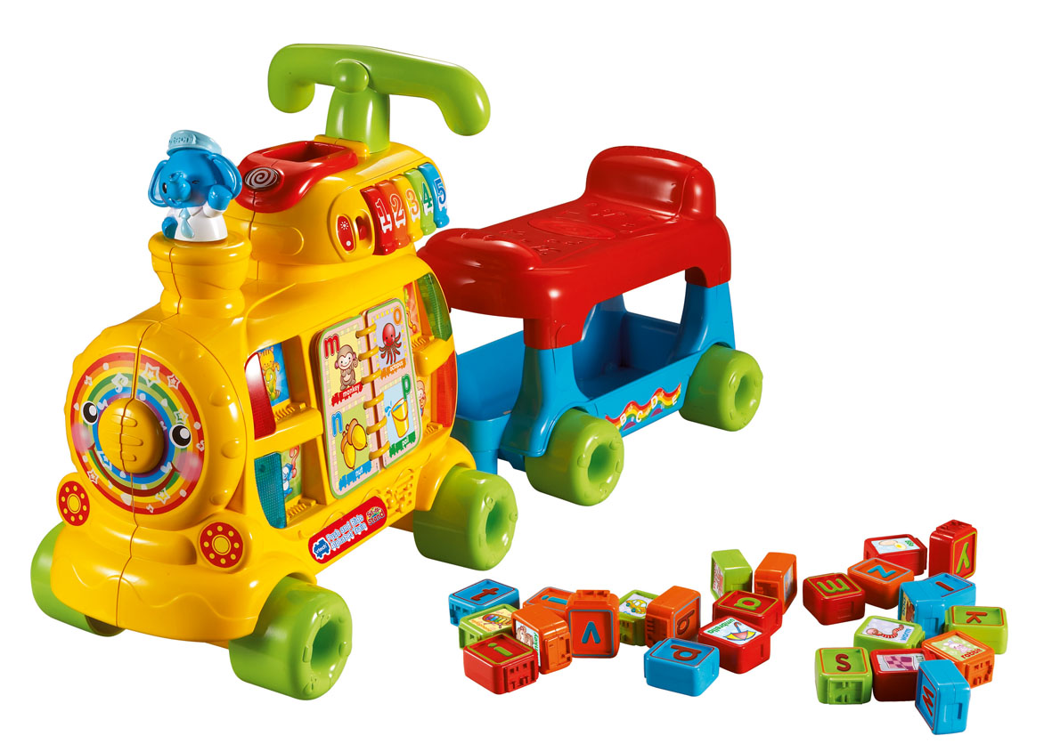 New Childrens Vtech Learning Push And Ride Alphabet Train Toy For 12