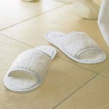 Towel City Classic Terry Slippers Open Toe Durable