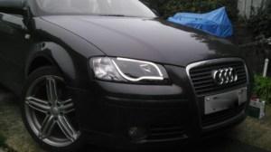 Audi A3 8P 0308 Black Lightbar Style DRL Projector
