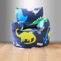 Children's Beanbag Chair Dinosaurs Blue Boys Kids Bedroom ...
