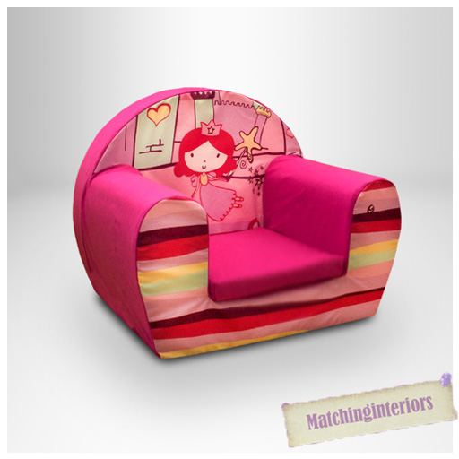 Princess Castle Pink Kids Childrens Comfy Foam Chair