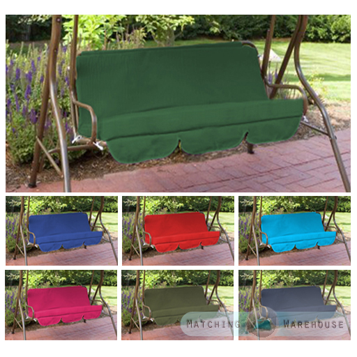 swing chair garden uk baby chairs for bathtub replacement cushions seat hammock pads waterproof 2 details about 3 seater