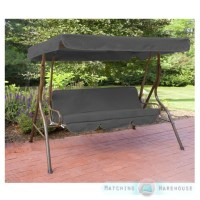 Replacement 3 Seater Swing Seat Canopy Cover and Cushions ...