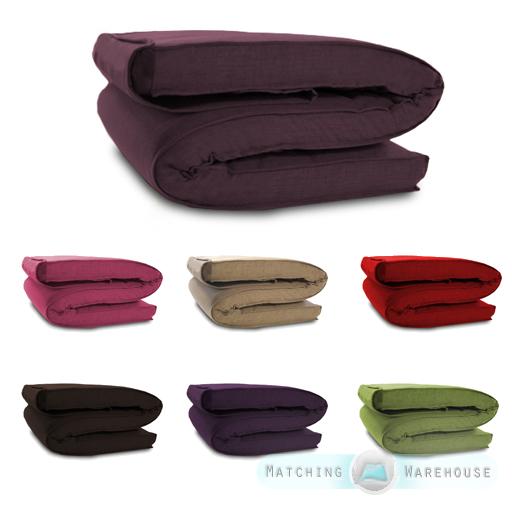 details sur tissu de housse pour matelas futon simple double tailles fits massum afficher le titre d origine