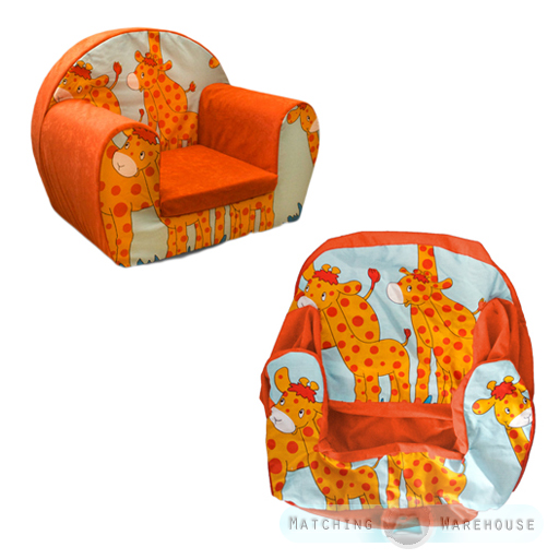 Kids Childrens Comfy Soft Foam Chair COVER ONLY Toddlers