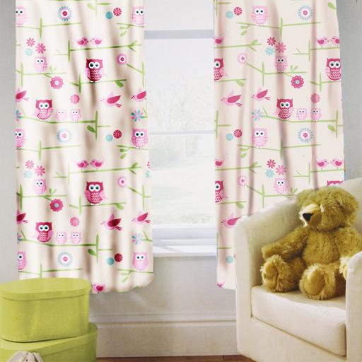 Childrens Nursery Bedroom Curtains Kids Junior Baby Pencil Pleat