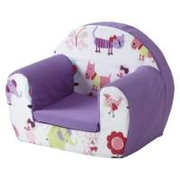 Cute Pets Purple Childrens Kids Comfy Foam Chair Toddlers ...