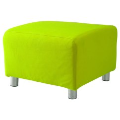 Ikea Chair Covers Ebay Diy Wooden Seat Lime Cotton Custom Slip Cover For Klippan Footstool