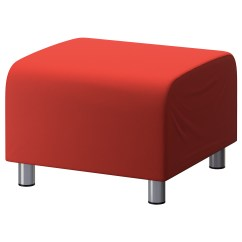 Ikea Chair Covers Ebay Kevi Desk Red Cotton Custom Slip Cover For Klippan Footstool