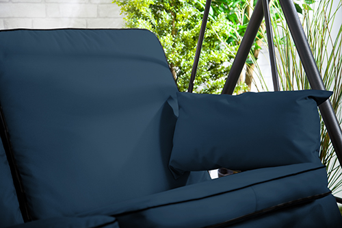 Replacement Navy 2 Seater Swing Seat Hammock Cushions Set