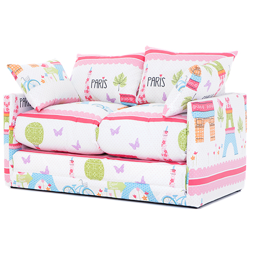 72 sofa cover convertible bunk bed from italy paris city print children's bedroom fold out ...