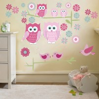 Childrens Cute Owls Twit Twoo Wall Stickers Decals Nursery ...
