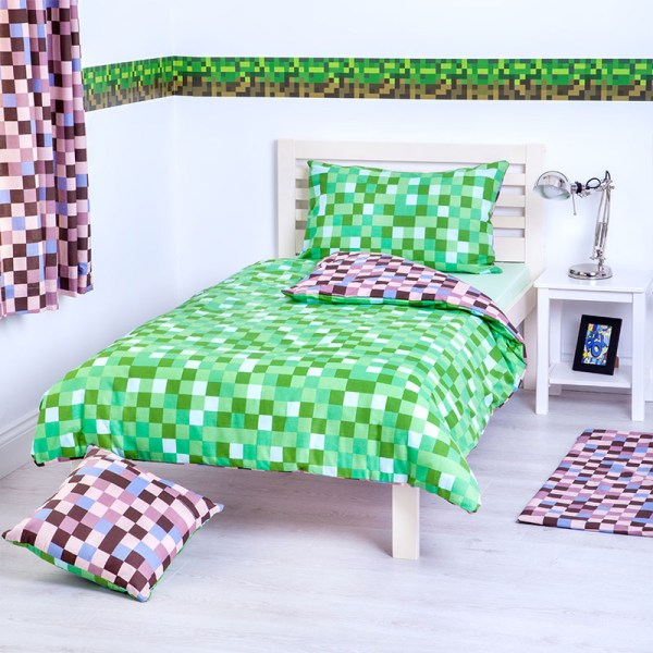 Green and Brown Bed Set Cover