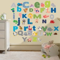 Childrens Alphabet Letters Wall Stickers Decals Nursery ...