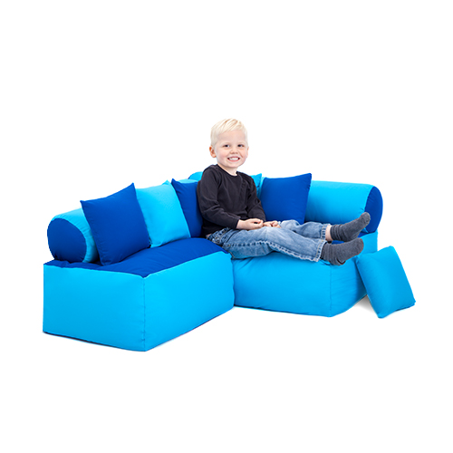 children s playroom sofa pit sectional children's reading corner nursery seating soft play ...