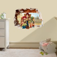 Toy Story Hole in the Wall Sticker 3D Bedroom Boys Girls ...