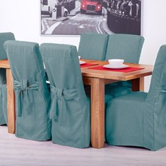 Leather Chair Covers Ebay Bumbo Age Fabric Slipcovers For Scroll Top High Back Oak Dining Chairs