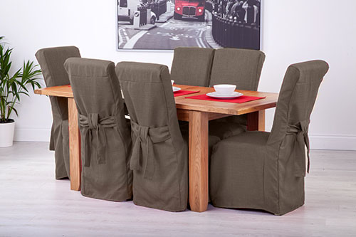 chair seat cover fabric fishing game set slipcovers for scroll top high back leather oak dining chairs