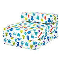 Kids Character Foam Fold Out Sleep Over Guest Single Futon ...