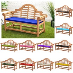 Small Chair Cushions Uk Glider Covers Canada Waterproof Cushion Pads Lutyens Teak Bench Garden