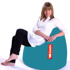 Adult Size Bean Bag Chair Loveseat And Two Chairs Turquoise Hippo Large Pod Water Resistant Beanbag