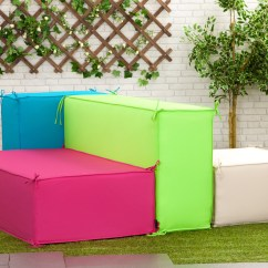 Foam Block Sofa Bed Drew Sectional Stone Square Waterproof Garden Soft Seating