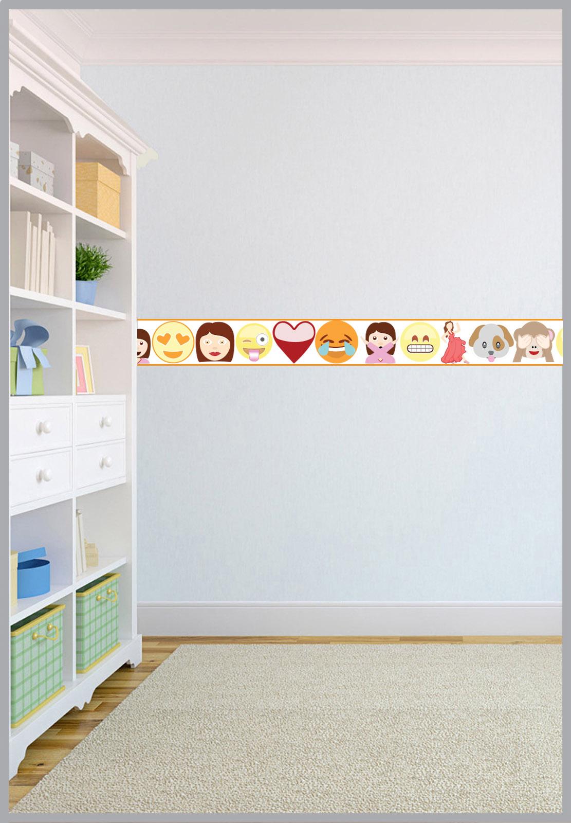 Girls Bedroom Wallpaper Border Children S Emoji Design Bedding Bedroom Collection
