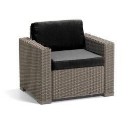 Outdoor Rattan Armchair Uk Best Chairs Inc Swivel Rocker Recliner Cushion Pads For Keter Allibert California Garden