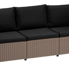 Sofa Pads Uk Soft Cord Fabric Cushion For Keter Allibert California Rattan Garden