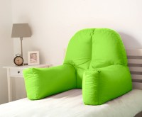 Lime Cotton Chloe Bed Reading Pillow Bean Bag Cushion Arm ...