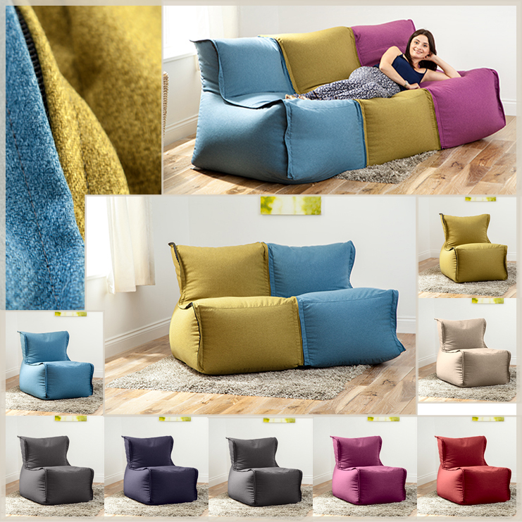 adult size bean bag chair plastic adirondack chairs canadian tire modular sofa beanbag lounger couch seating kids wool feel   ebay