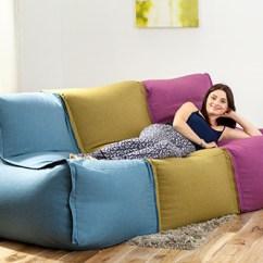 How To Make Bean Bag Chair Craigslist Rocking Modular Sofa Beanbag Lounger Couch Seating Kids Adult Wool Feel | Ebay