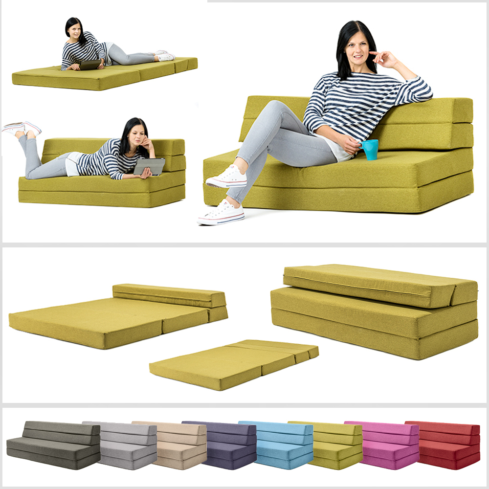 Foam Fold Out Chair Details About Amellia Fold Out Foam Guest Z Bed 2 Seater Folding Futon Double Sofa Mattress