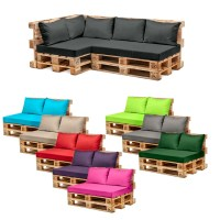 Pallet Garden Furniture Cushions Sets Water Resistant ...
