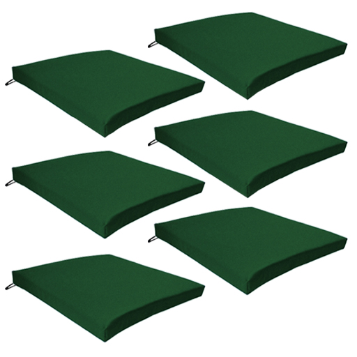 green chair cushions frank lloyd wright 6 pack seat cushion outdoor garden tie on waterproof pad images