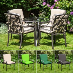 Green Garden Chair Covers Coleman Sling Replacement Cushion For Homebase Lucca Metal Patio