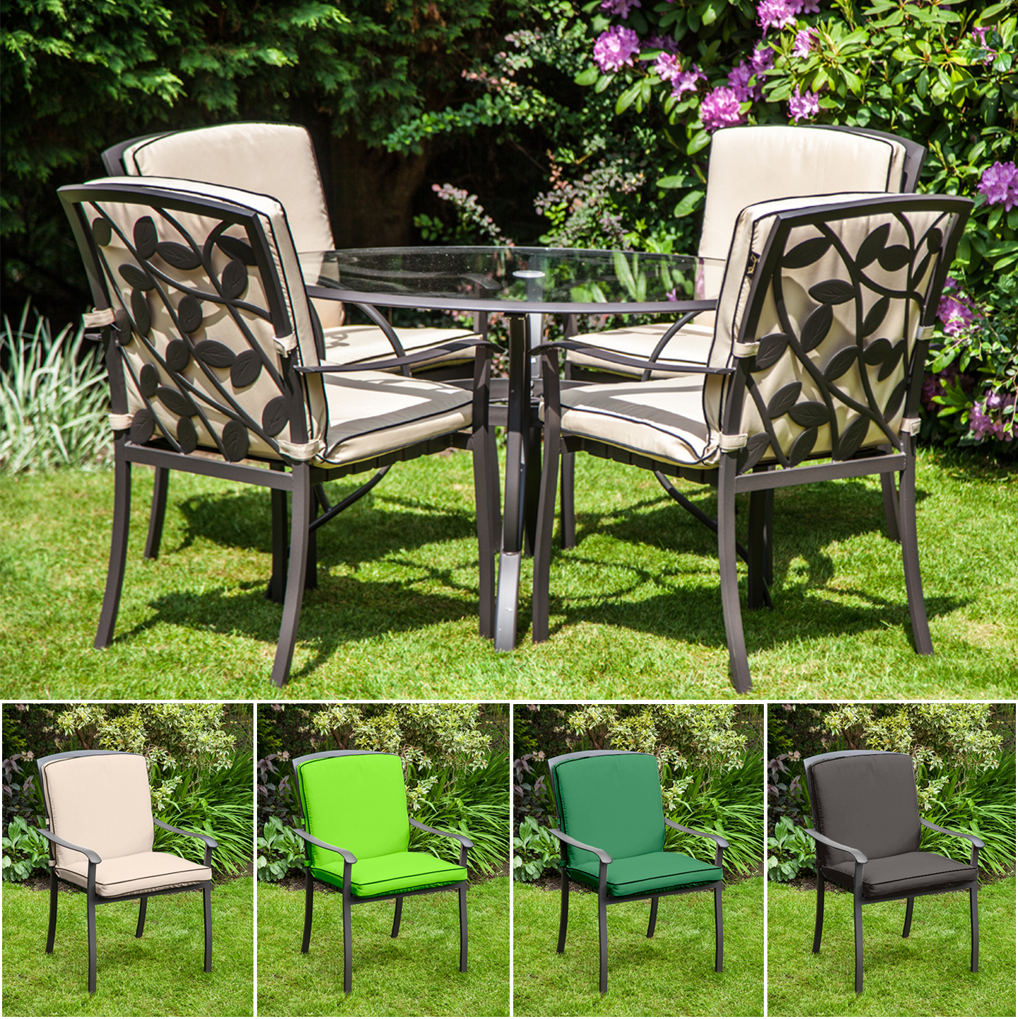 small chair cushions uk booster for elderly replacement cushion homebase lucca metal garden patio