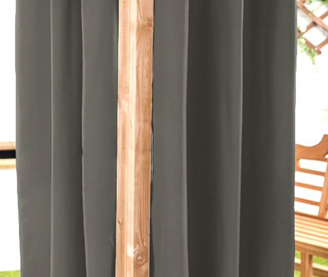 Waterproof Outdoor Curtain Eyelet Panel   Garden