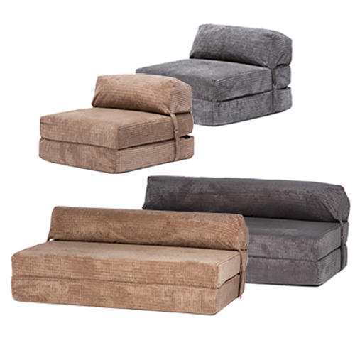 folding chair bed argos garden metal chairs corduroy fold out single double guest z chairbed mattress sofa futon | ebay