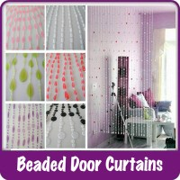 Plastic Beaded Curtains Wide Doors Windows Dividers Fly ...