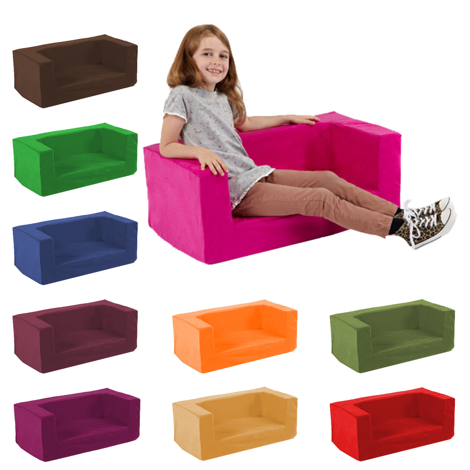 Toddler Foam Chair Kids Children 39s Double Comfy Settee Toddlers Foam Sofa