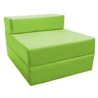 Fold Out Foam Guest Z Bed Chair Waterproof Sleep Over In ...