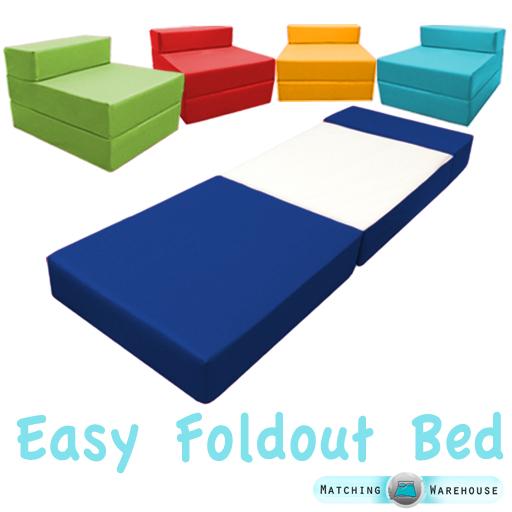 fold up bed chair fishing cuzo out foam guest z waterproof sleep over in or outdoor details about futon single