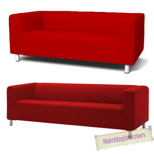 ikea sater sofa uk custom houston tx red cover slipcover to fit klippan 2 or 4 seater settee details about replacement
