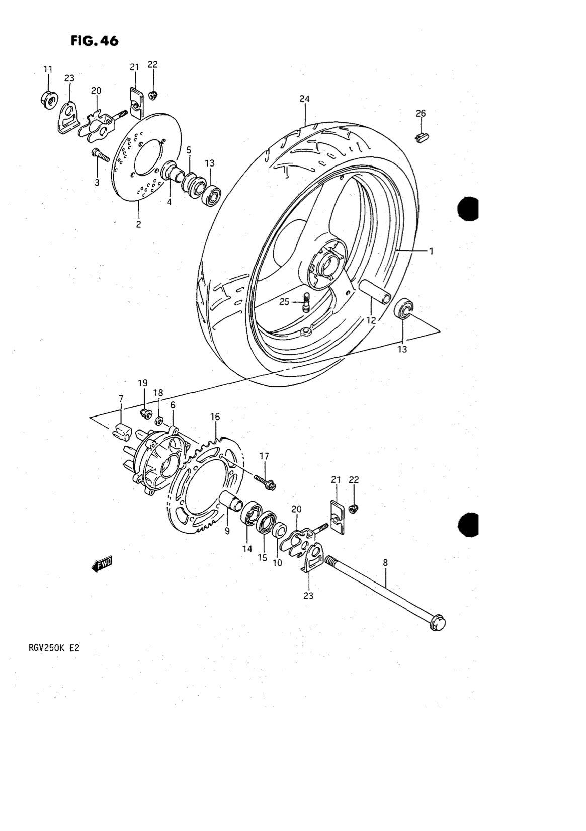 Suzuki Genuine RGV250 K-L 1989-1990 Rear Wheel Nut 09159