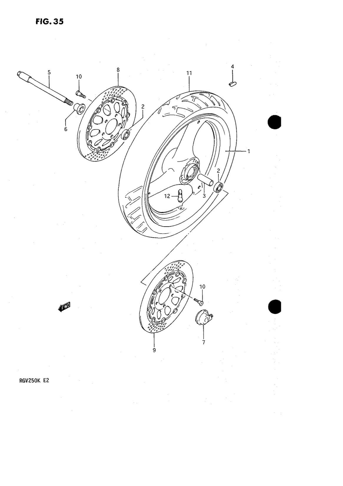 Suzuki Genuine RGV250 K-L Front Wheel Speedo Box Assembly