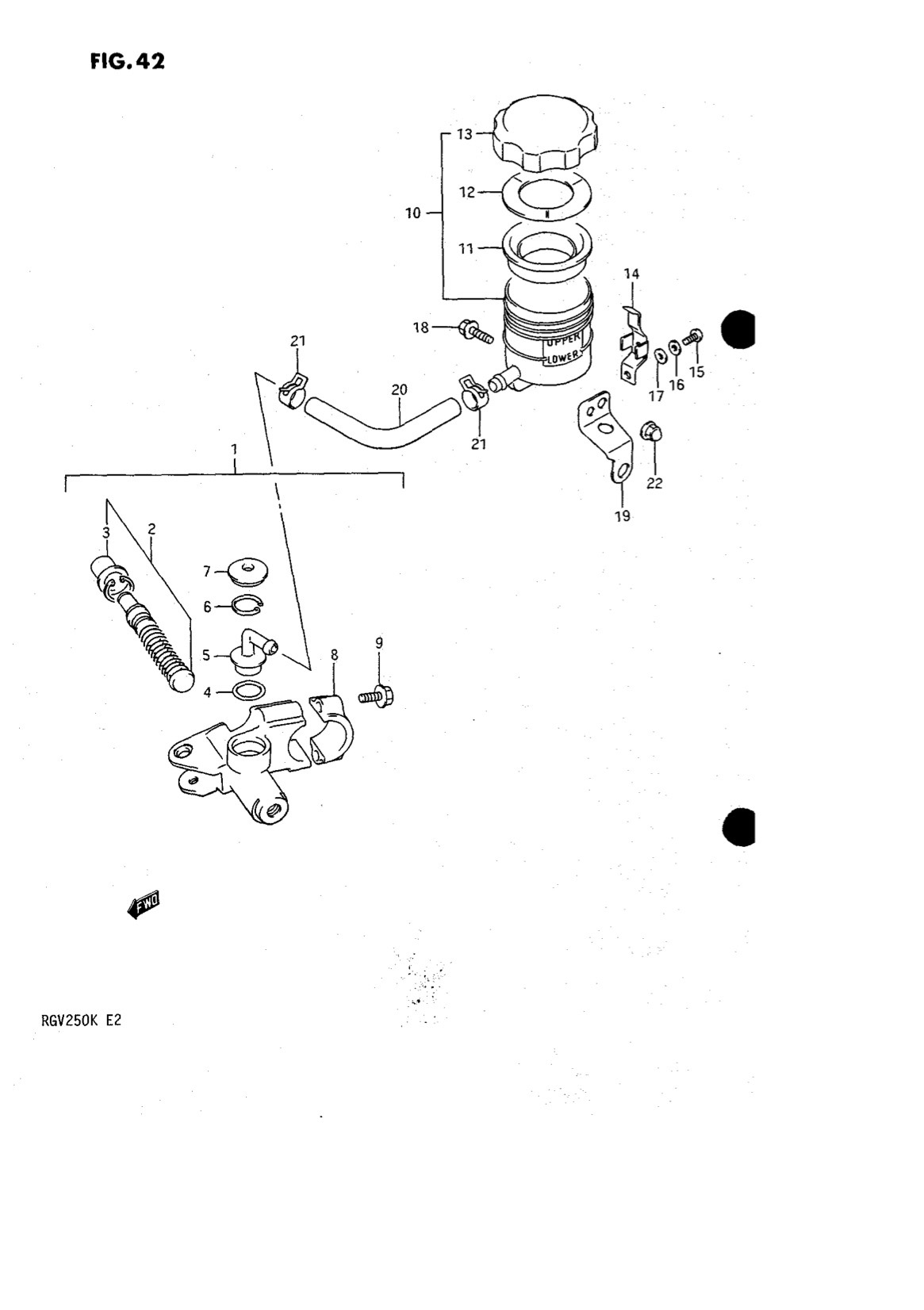 Suzuki Genuine RGV250 K-L 1989-1990 Front Master Cylinder
