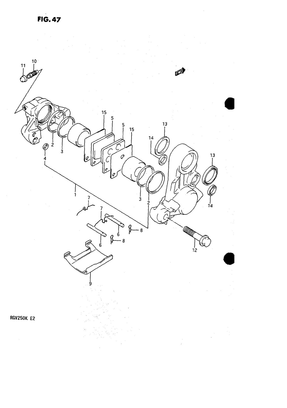 Suzuki Genuine RGV250 K-L 1989-1990 Rear Caliper Piston